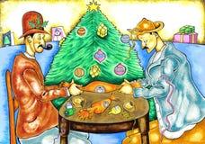 Los tiradores de la galleta stock de ilustración