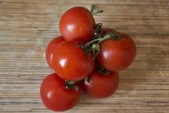 Los tomates cierran la visión Imagen de archivo