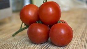 Los tomates cierran la visión Fotografía de archivo libre de regalías