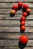 Los tomates tienen gusto de la pregunta Foto de archivo