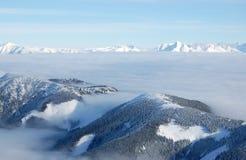 Los tops del Tatras bajo y alto Imágenes de archivo libres de regalías