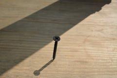 Los tornillos torcieron en un tablero Foto de archivo libre de regalías