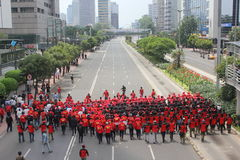 Los trabajadores indonesios se reúnen en Día del Trabajo Fotografía de archivo