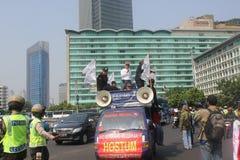Los trabajadores se reúnen en Jakarta Fotos de archivo libres de regalías