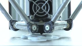 Los trabajos de la impresora 3D almacen de video