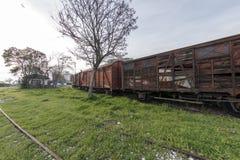 Los trenes del nostálgico parquearon en la estación para los visitantes, Estambul, Turquía de Haydarpasa ` 2017 de marzo fotos de archivo