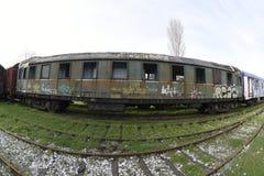 Los trenes del nostálgico parquearon en la estación para los visitantes, Estambul, Turquía de Haydarpasa ` 2017 de marzo imágenes de archivo libres de regalías