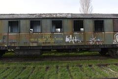 Los trenes del nostálgico parquearon en la estación para los visitantes, Estambul, Turquía de Haydarpasa ` 2017 de marzo imagenes de archivo