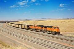 Los trenes diesel están transportando el carbón Fotografía de archivo libre de regalías