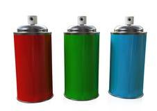 Los tres aerosoles Foto de archivo libre de regalías