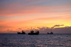 Los tres barcos Foto de archivo