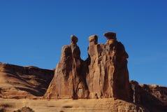 Los tres chismes, arcos parque nacional, Utah Imagenes de archivo