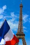 Los tres colores en París Fotos de archivo