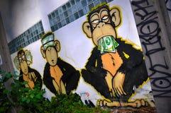 Los tres monos sabios fotografía de archivo libre de regalías