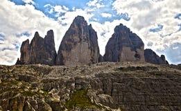 Los tres picos de Lavaredo Fotografía de archivo libre de regalías