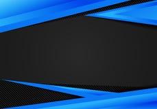 Los triángulos geométricos azules de la plantilla del extracto ponen en contraste el fondo negro Usted puede utilizar para el dis stock de ilustración