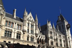 Los Tribunales de Justicia reales Fotos de archivo libres de regalías