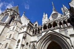 Los Tribunales de Justicia reales en Londres Fotografía de archivo libre de regalías