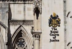 Los Tribunales reales de Londres de Justicia Fotografía de archivo libre de regalías