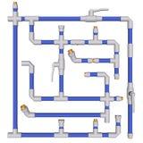 Los tubos conectaron las guarniciones stock de ilustración