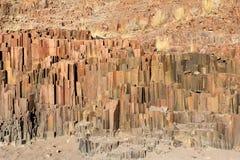 Los tubos de órgano, Damaraland, Namibia. Fotografía de archivo