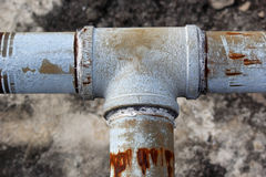 Los tubos de agua. Foto de archivo libre de regalías