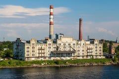 Los tubos plantan en Riga Imágenes de archivo libres de regalías