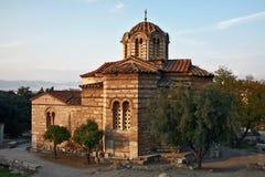 Los turistas deben ver las señales más valoradas de los sightseeings de Atenas Imagen de archivo libre de regalías