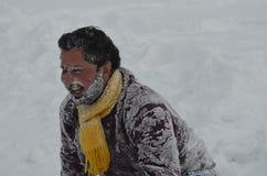Los turistas gozan en el país la India de Gulmarg Cachemira Baramulla Foto de archivo libre de regalías