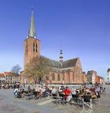 Los turistas locales gozan de una terraza en Turnhout, Bélgica Fotografía de archivo libre de regalías