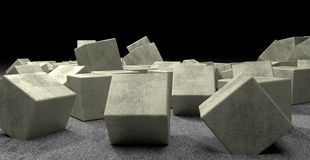 Los ?ubes del cemento ligero Foto de archivo