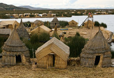 Los Uros floating islands Stock Photos