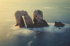Los Urros in Costa Quebrada with vintage effect Stock Images