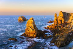 Los urros islets in Liencres Stock Images
