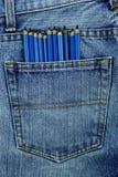 Los vaqueros viejos pusieron su bolsillo trasero Foto de archivo libre de regalías