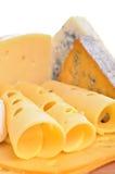 Los varios tipos de composición del queso aislaron Imagenes de archivo