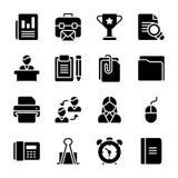 Los vectores del Glyph del lanzamiento de producto embalan stock de ilustración