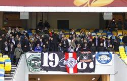 Los ventiladores del FC Girondins de Bordeaux utilizan a sus personas Fotografía de archivo libre de regalías