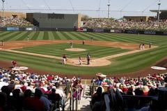 Ventiladores del juego del entreno primaveral de la liga del cactus de MLB Fotos de archivo