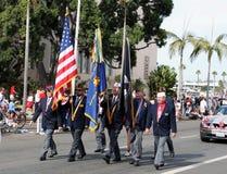 Los veteranos colorean en la revisión Foto de archivo