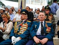 Los veteranos de la Segunda Guerra Mundial en la celebración del 9na pueden Foto de archivo libre de regalías