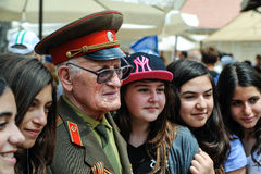 Los veteranos de la Segunda Guerra Mundial en la celebración del 9na pueden Fotografía de archivo libre de regalías