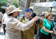 Los veteranos de la Segunda Guerra Mundial en la celebración del 9na pueden Imágenes de archivo libres de regalías