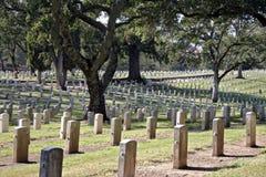 Los veteranos de Yountville Ca se dirigen el cementerio Fotos de archivo