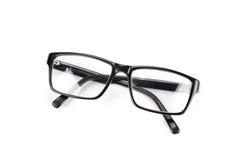 Los vidrios del ojo morado miran un estilo del empollón del pedazo aislados en blanco Imágenes de archivo libres de regalías