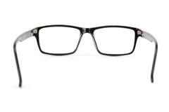 Los vidrios del ojo morado miran un estilo del empollón del pedazo aislados en blanco Fotografía de archivo libre de regalías