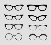 Los vidrios vector el conjunto Retro, estilos del inconformista Imagen de archivo