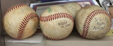 Los viejos béisboles del homerun Fotos de archivo