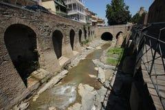 Los viejos baños del azufre en Tbilisi, Georgia Imagen de archivo libre de regalías