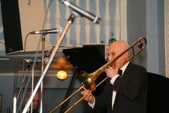 Los viejos jazzmen dan la impulsión Imagen de archivo libre de regalías